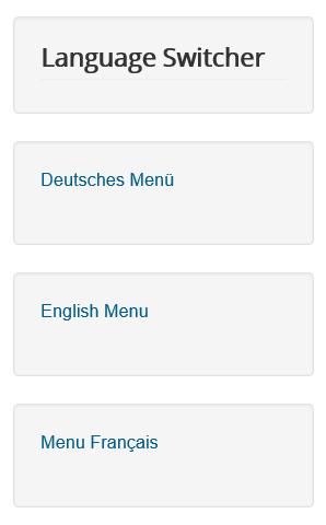 Joomla Modul Language Switcher ist jetzt über den Menüs