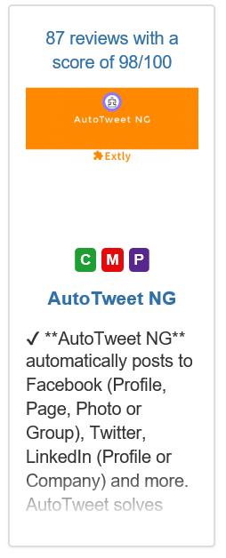 Joomla Komponente Auto Tweet NG