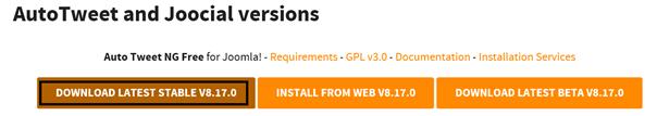 Joomla Stelle für Download AutoTweet NG Free