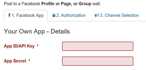 Joomla Auto TweetNG Felder für App ID und App Secret
