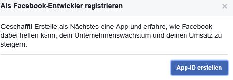 Sich als Facebook Entwickler registrieren IV