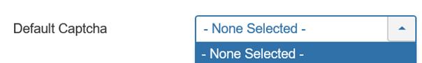 "Joomla Feld Default Captcha bei ""System-Global- Configuration"" Registerkarte ""Site Settings"""