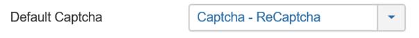 Joomla Captcha kann jetzt bei Default Captcha ausgewählt werden
