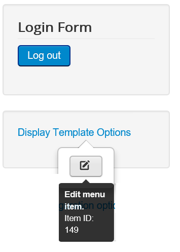 Joomla Edit Menu bei Display Template Options