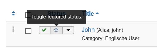 Joomla Kontakt zu Haupteintrag machen