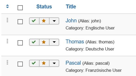 Joomla 3 Kontakte als Haupteinträge
