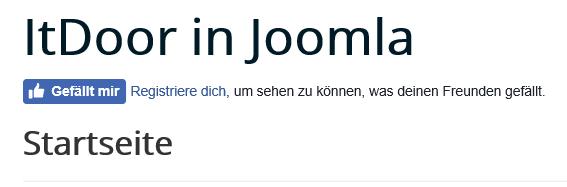 """""""Gefällt mir"""" Button mit Text auf der Joonla Website"""