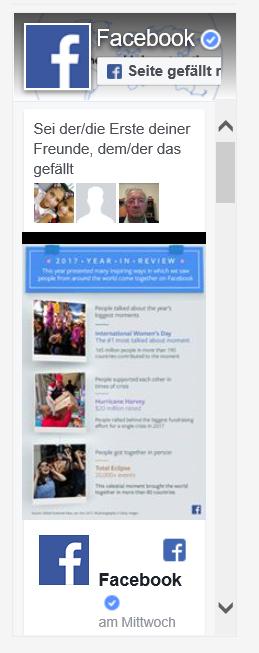 Facebook Seiten-Plugin auf Website