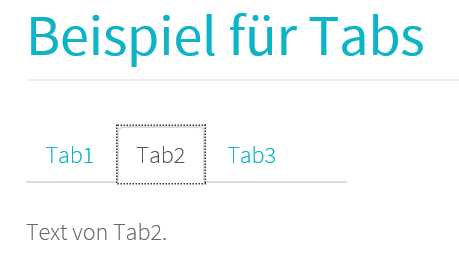 Joomla Beispiel mit 3 Tabs