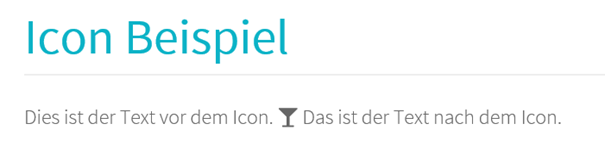 Joomla Website mit einem Icon auf Grund eines Shortcodes