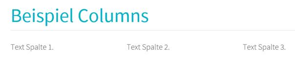 Joomla Website 3 Spalten auf Grund von Shortcode