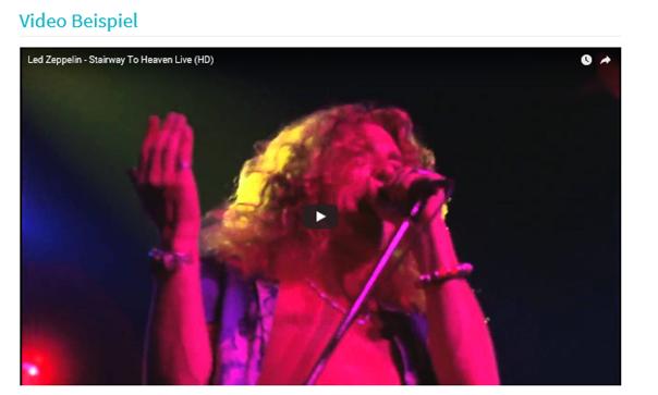 Fertig eingefügtes Youtube Video auf einer Joomla Website
