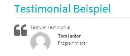 Testimonial auf Joomla Website durch Shortcode