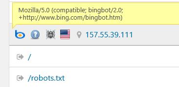 User Agent String im Besucherstatistikprogramm von Bots