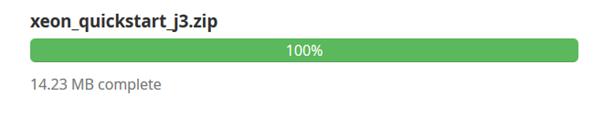 Quickstartdatei des Templates XEON ist im Subdomainverzeichnis hochgeladen