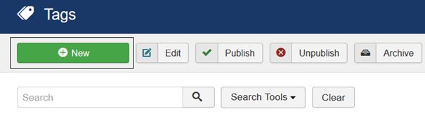Button für Joomla Tag erstellen