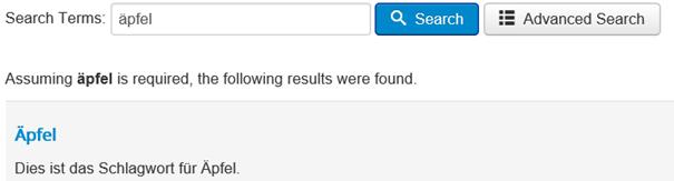Joomla Suchergebnis Smart Search Tag Äpfel