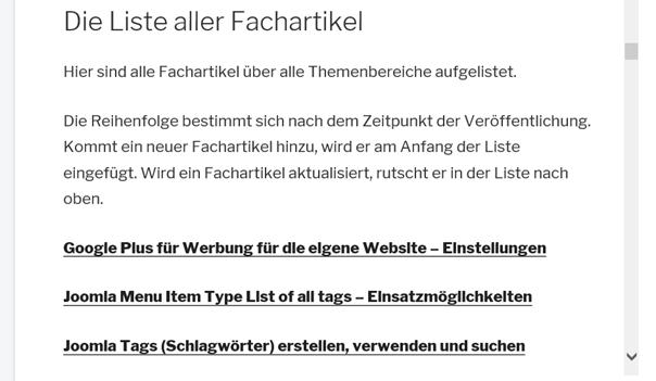 Die Website von ItDoor im Joomla Iframe Wrapper ohne Rahmen