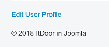 Joomla Website Menüpunkt Edit User Profile