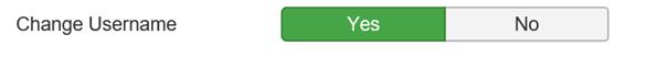 Joomla Einstellung ob Besucher Ihren Usernamen ändern dürfen