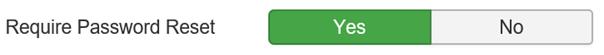 Joomla Passwortzurücksetzung wird gefordert