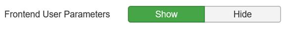 Joomla Frontend User Parameters anzeigen