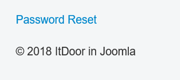 Joomla Website Menüpunkt Password Reset