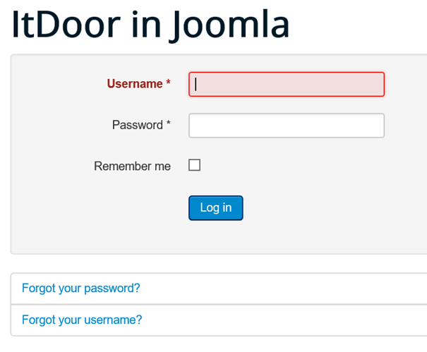 Joomla kein Registrierungsformular auf der Website wenn allow registration no