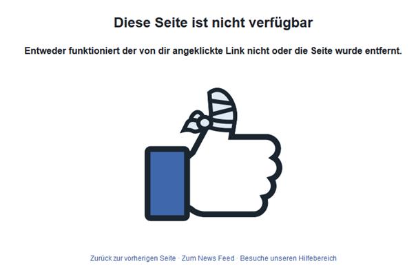 Reaktion von Facebook wenn angeblich verdächtige Bewegungen vorliegen