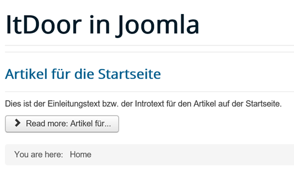 Joomla Website Read more Button mit 13 Zeichen