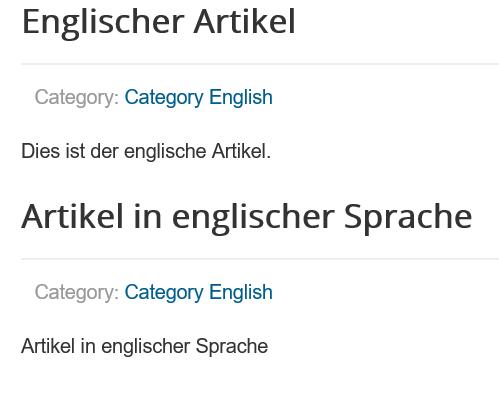 Joomla Website englischsprachige Artikel mit Language Switcher ausgesucht