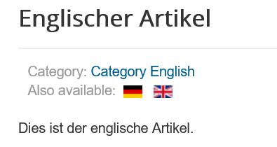 Joomla Website Sprache wechseln hat geklappt
