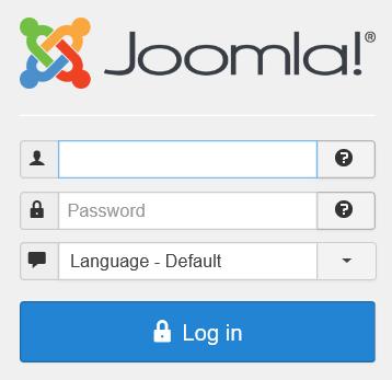 Die Anmeldemaske von Joomla