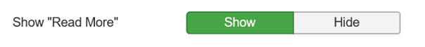 """Joomla Show Read More ist im Standard auf """"Show"""" eingestellt"""