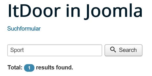 Joomla Website Suchformular Suche nach einer Kategorie Suchergebnis I