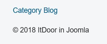 Joomla Website Menüpunkt Category Blog