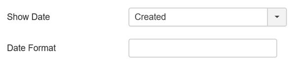 Joomla Liste Date Format