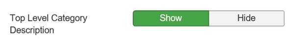 Joomla Top Level Category Description Show