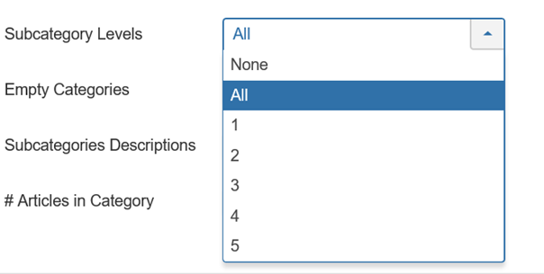 Joomla List All Categories Subcategory Levels