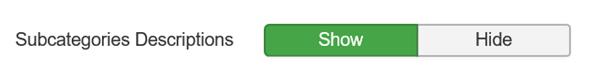 Joomla Subcategories Description Show