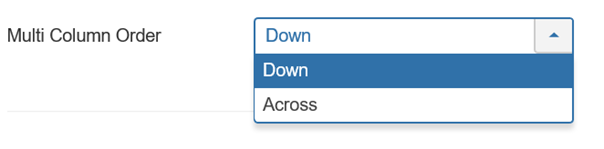 Joomla Multi Column Order Down