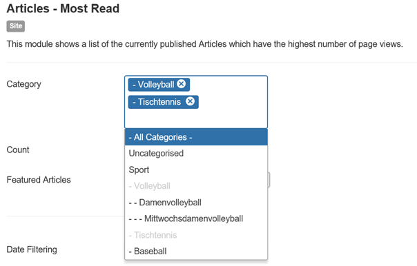 Joomla Module Articles Most Read Category