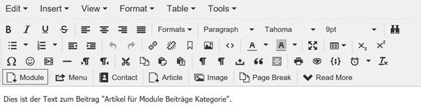 Joomla Article Module Articles Category integrieren