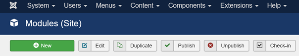 Joomla neues Modul für Beiträge Kategorien erstellen