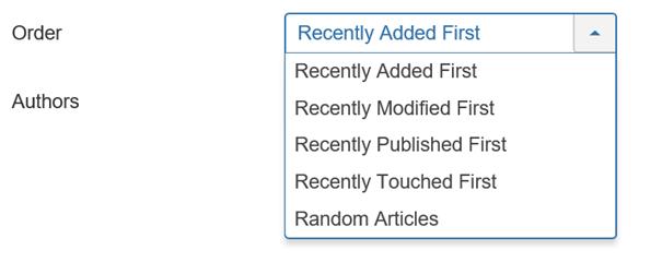 Joomla Module Articles Order