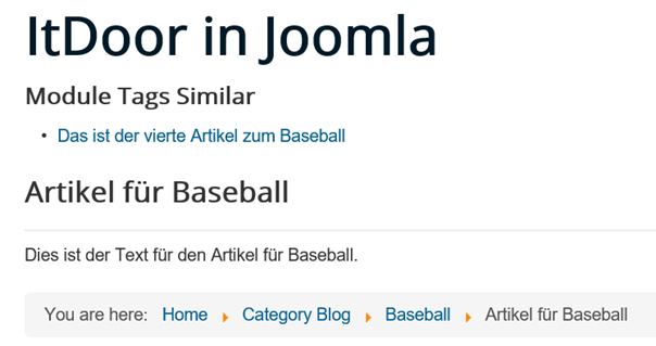 Joomla Website Module Tags Similar Match Type ist All