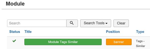 Joomla Module Tags Similar für Article aussuchen
