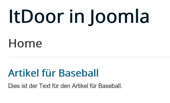 Joomla Website Das Modul Schlagwörter Ähnliche ist weder direkt noch im Artikel zu sehen