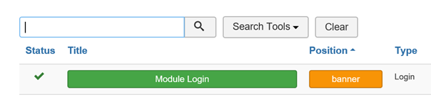 Joomla Module Login für Article aussuchen