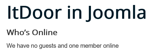 Joomla Website Module Who's Online mit eingeloggtem Besucher